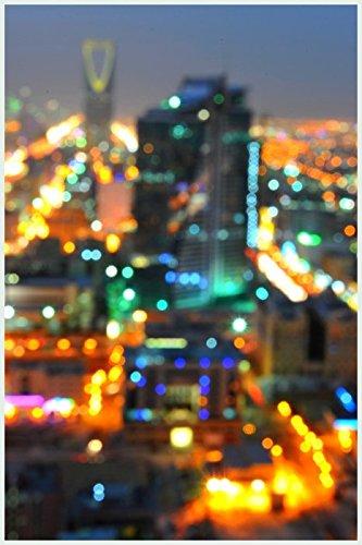 Bild mit Rahmen Hady Khandani - RIYADH BLURR - SAUDI ARABIA - Digitaldruck - Alimunium silber matt, 40 x 60cm - Premiumqualität - HADYPHOTO, Fotografie, Photografie, Vorderasien, Saudiarabien Panorama, Stadt, Riad, .. - MADE IN GERMANY - ART-GALERIE-SHOPde