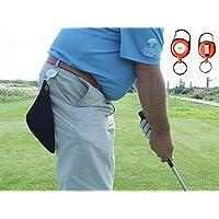 Z4BTN Mini-Golf-Handtuch Schwarz personalisierbar ausziehbar Roter Rollhalter Ein perfektes Geschenk