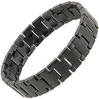 sisto-x Herren-Armband Edelstahl magnetisch schwarz Cobra Gesundheit Rare Earth preisvergleich bei billige-tabletten.eu