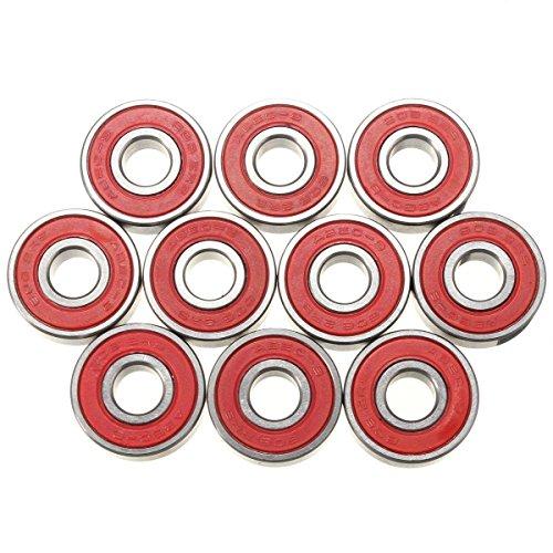 Radlager - SODIAL(R)10pcs ABEC-9 Lager Skateboard Super schnelle 608-2RS Lagerstahl Geschwindigkeit skate -