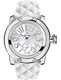 Glam Rock Miami Damen-Armbanduhr 46mm Armband Leder Weiß Gehäuse Edelstahl Schweizer Quarz Analog GR10506S