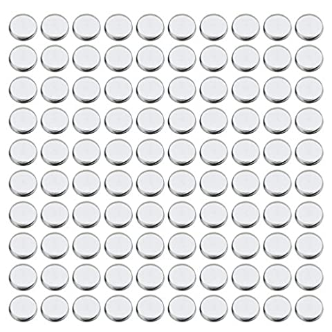 Sharplace Bulk Lot 100pcs Empty Round Square Eyeshadow Blush Makeup Pans Tin Powder Make Up Container Pot For Magnetic Palette Box Responsive to Magnets - Silver,
