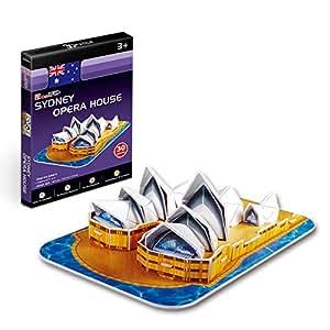 Cubicfun 3D Puzzle - Sydney Opera House, Multi Color