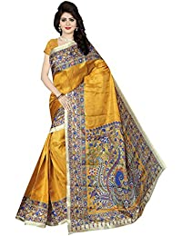 Winza Designer Women's Kalamkari Khadi Cotton Silk Saree With Blouse ( Winza Designer Saree For Women Party Wear...