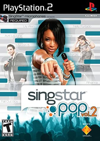 PlayStation 2 - PS2 Konsole inkl. SingStar Deutsch Rock-Pop Vol. 2 + 2 Mikrofone