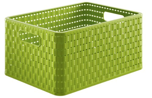 Rotho 1153519000 - cestino country a4, intreccio simil-rattan