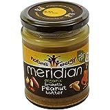 MERIDIAN - Beurre de cacahouètes 100% sans huile de palmier - Sans Gluten - Vegano - 280 gr - en pot de Verre il