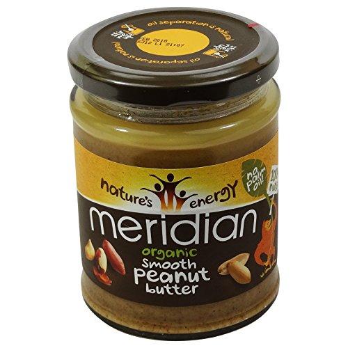 MERIDIAN - Burro di arachidi 100% senza olio di palma - Senza Glutine - Vegano (Burro Biologico Nocciola)
