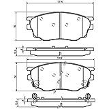 Mapco 6658Motorcraft Kit de plaquettes de frein, frein à disque