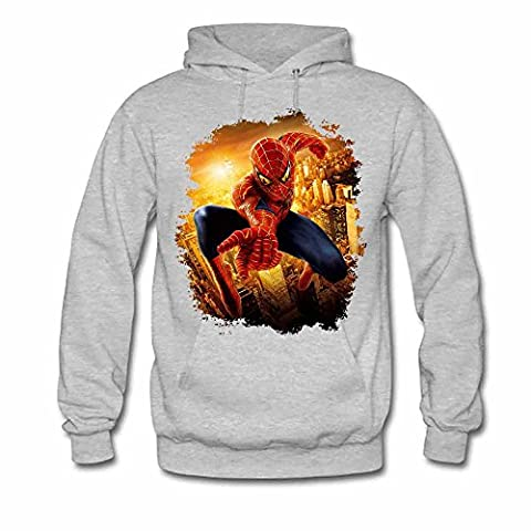 Womens Spiderman Pullover Hoodie 100% Cotton S