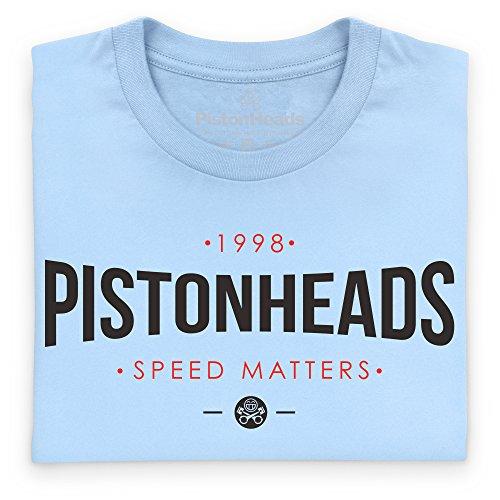 PistonHeads Speed Matters Curved T-Shirt, Damen Himmelblau