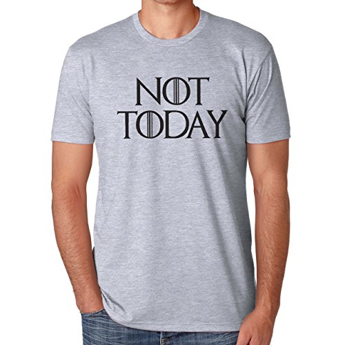 Not Today Game Of Thrones Herren T-Shirt Grau