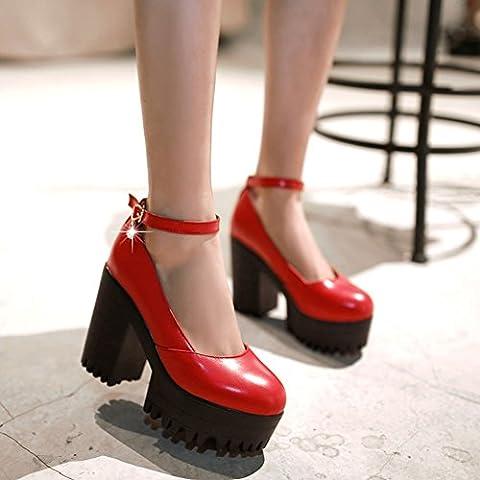 escogen los zapatos de las mujeres europeas y americanas de moda/Bombas redondas/zapatos de tacón alto de la vendimia/zapatos impermeables