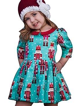 ❤️Kobay Kleinkind Kinder Baby Mädchen Cartoon Prinzessin Party Kleid Weihnachten Outfits Kleidung