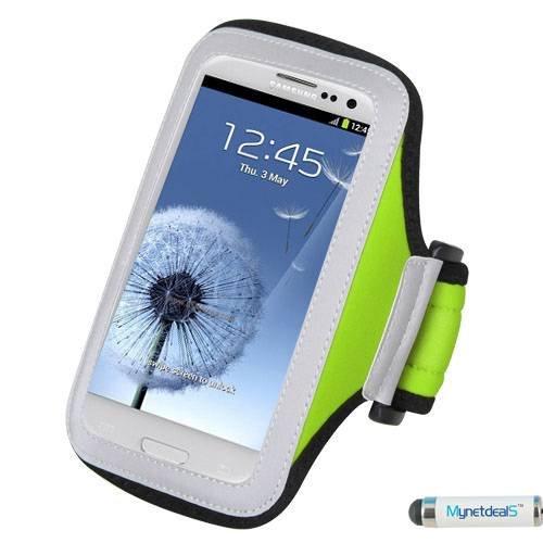 Premium Étui brassard de Sport pour iPhone 5C, iPhone 5/5S, iPod Touch 5ème génération, iPhone 4S/4 iPod Touch (4e génération), iPhone 3GS/3 g (Vert)-Stylet Mini pour écran tactile de Sm