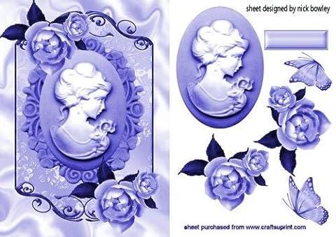 CAMEO LADY, Papillons ROSES & nuances de bleu Par Nick Bowley