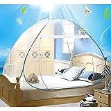 Reise doppelbett Yurt moskitonetz Student bett imprägniert moskitonetz für Reisende Wanderer und Camper Innen- und Außenbereich (150*200cm)