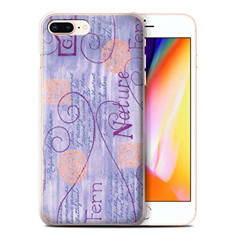 Stuff4 Hülle / Case für Apple iPhone 8 Plus / Blau Muster / Muster Natur Kollektion Lila / Orange
