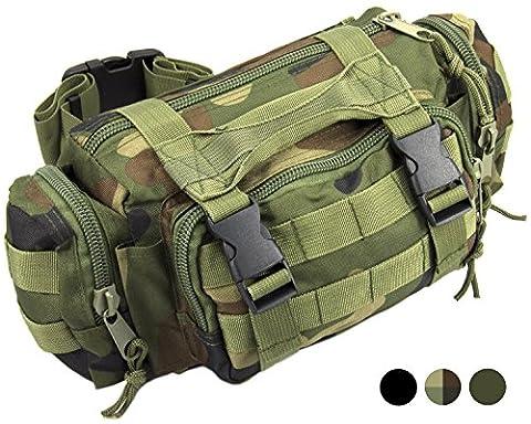 Nitehawk Army/Military MOLLE Waist Pack Bum Bag Camo Camouflage