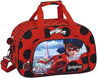 Safta Lady Bug Bolsa de Deporte, 40 cm, 10 Litros, Rojo / Negro
