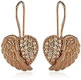 Engelsrufer Damen-Ohrhänger Herz Flügel 925 Silber teilvergoldet Zirkonia rosa - ERE-HEARTWING-ZI-R