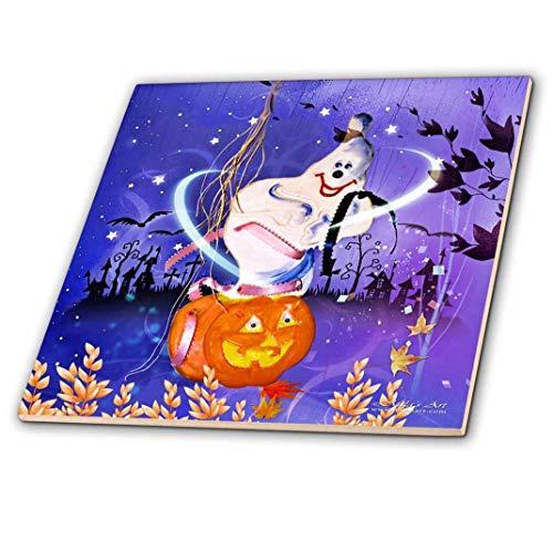 �Halloween Gespenst und Kürbis Keramik Fliesen, 30,5cm ()