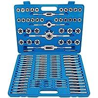 KRAFTPLUS® K.265-0110 Juego de machos y terrajas / Herramientas para roscar métrica (M2-M18) - 110 piezas