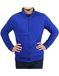 Veste micropolaire zippée bleu royal BLEU L