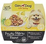 GimDog Futter – Little Darling Fruity Menu Ragout mit Thunfisch, Ananas & Gemüse – Für Hunde bis 10 kg – Natürliches Hundefutter ohne künstliche Aromen & Farbstoffe – Hundenassfutter 800g (8 x 100g)
