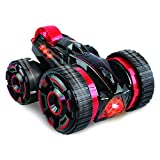 RC Remote Control Super Stunt Buggy with Lights - Fun High Speed Transforming Remote Controlled Stunt Car Toy - 360 Rotation, Flips, Run on 2, 3, 4 or 5 Wheels - Indoors / Outdoors - RTR (Red)