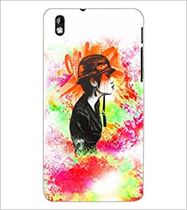 PrintDhaba Abstract Design D-5887 Back Case Cover for HTC DESIRE 816 (Multi-Coloured)