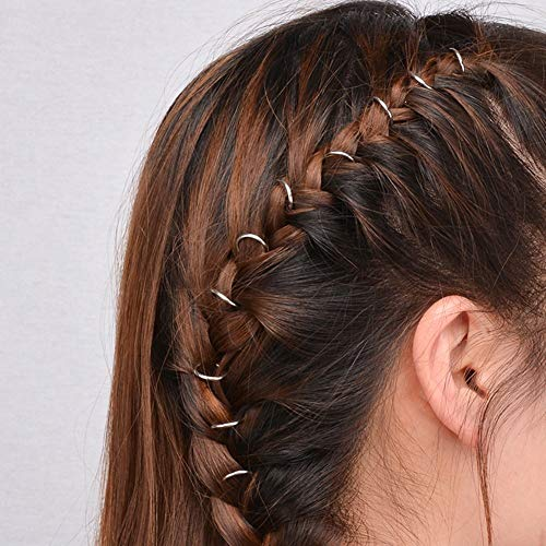 Bobopai 20 pc Punk Women Hip-Hop Braid Hand Cross Shell Leaf Ring Hair Clips Accessory (Silver Circle) - Aroma Diffuser Shell