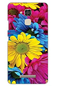 AMAN Nature Flower 3D Back Cover for Asus Zenfone 3 Max ZC520TL