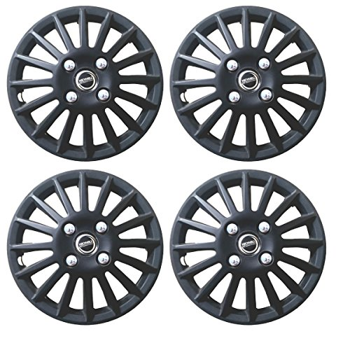 Hotwheelz Wheel Cover 13 inch for Hyundai i10-Matte Black-Set of 4pcs
