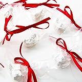 10 Stück kleine Mini-Engel Engelfiguren 3 cm - verpackt in Folie und roter Schleife - give-way Geschenke Gastgeschenke Mitgebsel zu Weihnachten Hochzeit Kommunion Taufe als Schutzengel