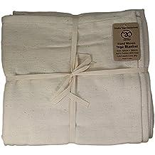 Yoga-mad - Esterilla de algodón para yoga (tejida a mano) 8460af0cc458