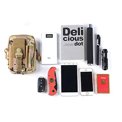 90Punkte Mehrzweck-Military Tactical Taille Tasche, Military Drop Bein Tasche für Outdoor-Aktivitäten CP Camouflage