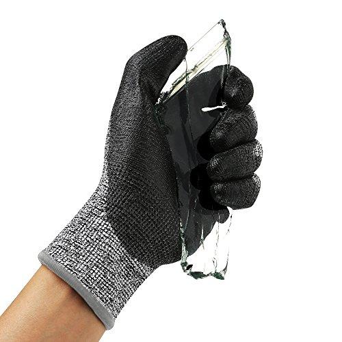Schnittschutz Handschuhe Level 5 Schutz EN-388 Zertifiziert Schnittschutzhandschuhe Gartenhandschuhe Leicht Arbeitshandschuhe für Küche, Gartenarbeit, Holzschnitzerei, Bau, 1 Paar Größe XL(kleiner als Standard)
