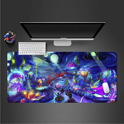 Interessante Meer Tier Mauspad Gummi Mauspad Verriegelungsrand Große Mauspad Pc Computer Laptop Tastatur Anime Pad 400 * 900 * 3Mm - Wasserdicht Meeres Stereo