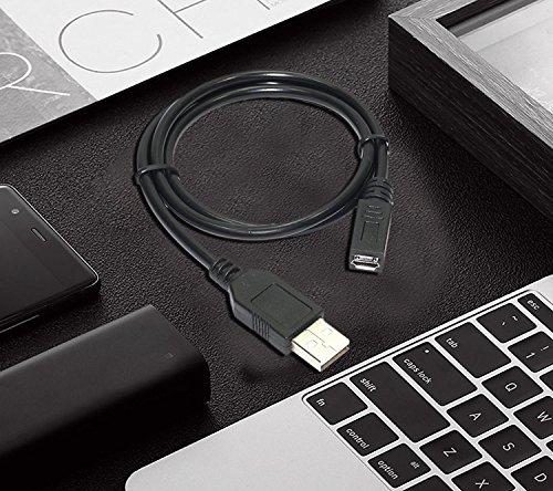 2 Feet Storite® Micro usb Female To usb Male Cable For OTG Morpho 1300 e2 / e3 Fingerprint Scanner – Black