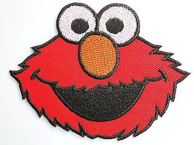 elmo-sesame-street-iron-on-sew-on-emroidered-badge-patchapprox-3485cm-x-approx-25-64cm-by-sslink