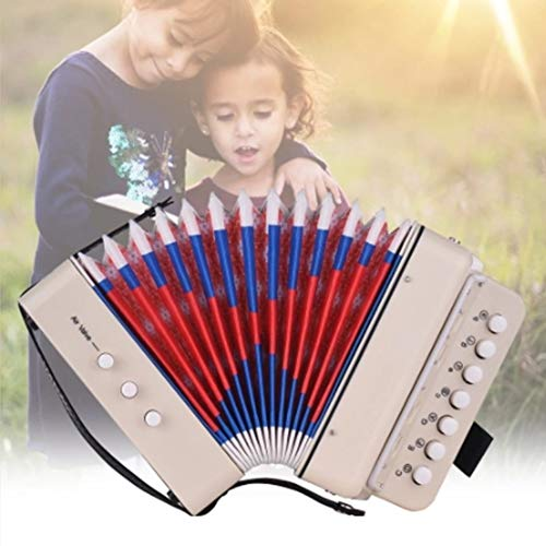 Kinder Akkordeon Mini 10 Keys Kinderspielzeug Musikinstrumente Unterstützung Bass Akkorde
