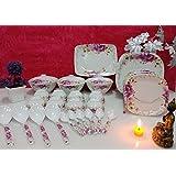 Regalia Platinum Melamine Set Of 41 Pcs Serving Dinner Set_IMI-DS507