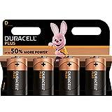 Duracell Plus, lot de 4 piles alcalines type D 1,5 Volts, LR20 MN1300 (visuel non...