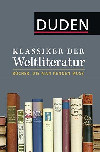 Buchcover Klassiker der Weltliteratur: Bücher, die man kennen muss