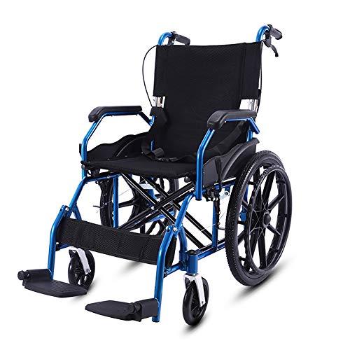 Rollstuhl, Rollstühle mit Selbstantrieb Faltbar Kippschutz Ergonomischem Sitz und Rückenlehne Reiserollstuhl, für ältere und behinderte Mensch - Sitzbreite 45cm
