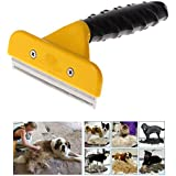 BAO CORE Medium Large Pets Dogs Furminator Deshedding Grooming Brush Tool for Long Short Hair Dogs Undercoat Fur Dematting Trimmer Remover Comb, Size