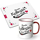 JUNIWORDS Tasse + Mousepad im Set - ideal als Geschenk - Beste Kollegin der Welt