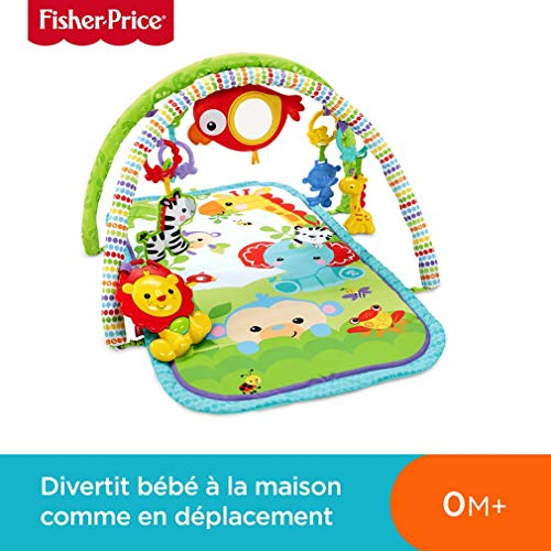 Fisher-Price Amis de la Jungle 3-en-1 Tapis d'Éveil Musical...