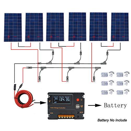 Panel solar de 120 W. Potencia relativa: 120 W. Voltaje de circuito abierto (Voc): 21,6 V. Voltaje máximo/pico (Vmp): 18 V. Corriente de cortocircuito (Isc): 7,72 A. Corriente máxima/pico (Imp): 6.67 A. Tolerancia de salida: ±3%. Coeficiente de tempe...